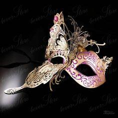 Gold Butterfly Venetian Masquerade Mask w/ Purple Glitters & Jewels Masquerade Dresses And Masks, Elegant Masquerade Mask, Couples Masquerade Masks, Mens Masquerade Mask, Venetian Masquerade Masks, Masquerade Wedding, Masquerade Costumes, Masquerade Ball, Purple Glitter