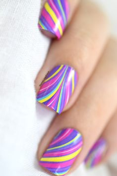 What's Up Nails P012 Groovy Watermarble water decals