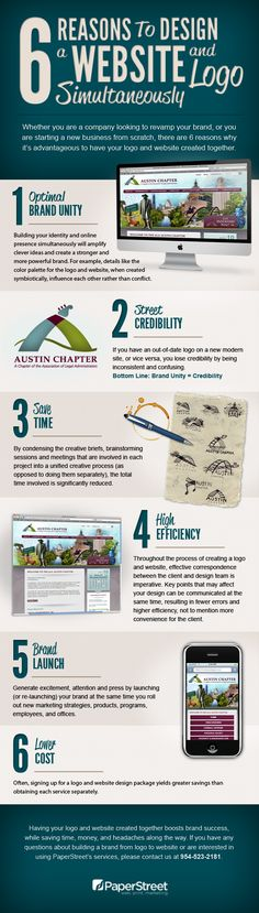 6 reasons to design a website and logo simultaneously #infographic