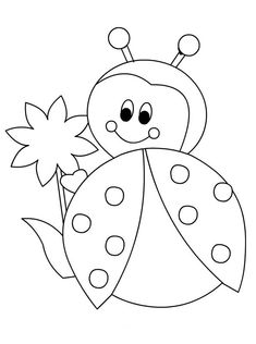 Marienkäfer 88 Tiere Malvorlagen zum ausdrucken Best Picture For applique patterns For Your Taste You are looking for something, and it is going to tell yo Art Drawings For Kids, Drawing For Kids, Easy Drawings, Art For Kids, Bee Coloring Pages, Animal Coloring Pages, Coloring Books, Preschool Painting, Preschool Crafts