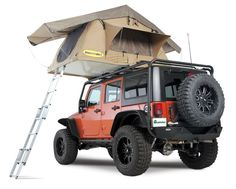 Smittybilt 2783 - Smittybilt Overlander Tent for Jeep® Wrangler & Wrangler Unlimited JK - Quadratec Wrangler Jeep, Jeep Rubicon, Jeep Wrangler Unlimited, Jeep Brute, Jeep Jku, Jeep Camping, Camping Info, Family Camping, Toddler Camping
