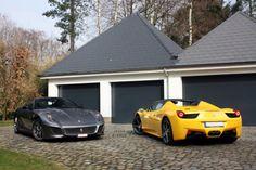 Ferrari 458 Roadster and 599