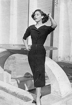 Ava Gardner in Sorelle Fontana 1956.