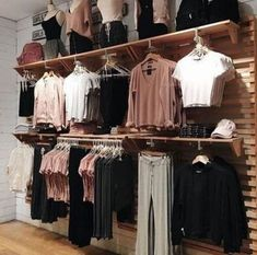 Clothes Store Interior Shopping Ideas Source by clothing store Clothing Boutique Interior, Boutique Interior Design, Boutique Decor, Interior Shop, Boutique Ideas, Clothing Store Displays, Clothing Store Design, Clothing Items, Cute Clothing Stores