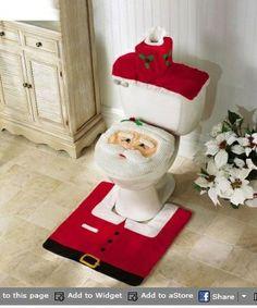 Saving 4 A Sunny Day: Santa 3 PC. Toilet Seat Cover