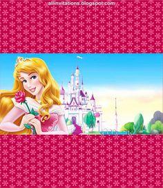 Etiqueta Chocolate Princesa Aurora
