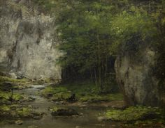 Gustave Courbet (1819-1877) Woodland stream