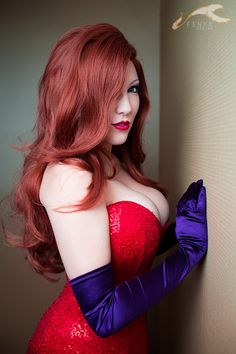 A very dear friend of mine cosplaing Jessica Rabbit. Betsy BonBon as Jessica Rabbit Jessica Rabbit, Streetwear, Sexy Women, Beautiful Dresses For Women, Beautiful Women, Beautiful Redhead, Power Girl, Best Cosplay, Awesome Cosplay