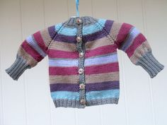 Another top-down baby cardigan
