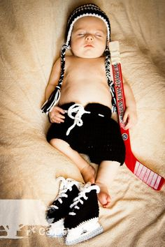 hockey, 3 month old, newborn picture ideas, baby picture ideas