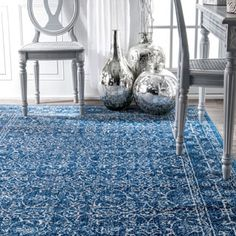 Shop for nuLOOM Vintage Medieval Floral Dark Blue Rug (4' x 6'). Get free shipping at Overstock.com - Your Online Home Decor Outlet Store! Get 5�0in rewards with Club O!