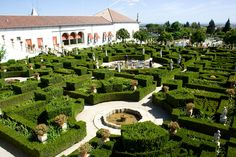 The Bishop's Garden in the town of Castelo Branco near the Spanish border.   The garden was created in the 18th century for the then Bishop of Guarda, Joao de Mendonca. Constructed in the Baroque style it contains statues of allegories, kings and zodiacal signs, arranged around ponds, terraces and staircases.