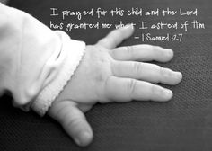 I have prayed for this child 1 samuel 1:27