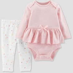 27eece4dc45 Baby Girls  3pc Skirt Set - Just One You made by Carter s Pink Newborn