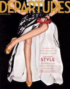 an Oscar de la Renta gown on the March/April cover of @DeparturesMag - fancy