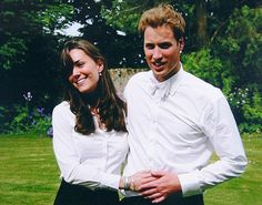 Young Love!  Kate Middleton and Prince William on the day of their graduation ceremony at St. Andrew's University. June 23, 2005 in Scotland. Catherine Duchess of Cambridge, aka Kate Middleton