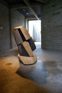 Noguchi sculpture in courtyard by TravelPod member Dmarek, from Long Island City, United States