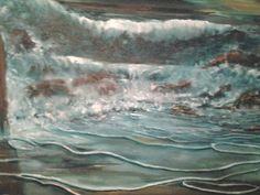 "#Impressionist, Original, oil on canvas, 16""x20"". ""Rough night"", Seascape Series#3. Fine Art by Julie Tucker-Demps"