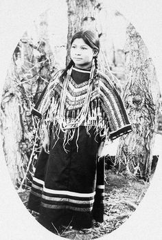 Rabbit, a Siksika girl. Early 1900s. Photo by Walter McClintock.