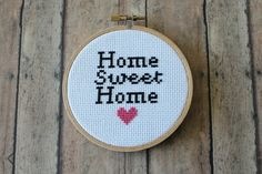 Home Sweet Home Cross Stitch Pattern PDF by Octobersmorning