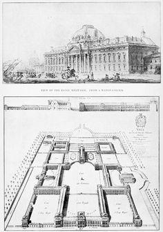 18TH CENTURY, France - Ange-Jacques Gabriel (1698-1782): Ecole Militaire, 1751-73, Paris.
