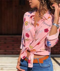 Fashion Womens Blouses Long Sleeve Office Shirt Chiffon Blouse Shirt Turn Down Collar Floarl Print Casual Tops Blusas Femininas Long Blouse, Blouse Dress, Winter Outfits Women, Chiffon Shirt, Blouses For Women, Ladies Blouses, Casual Tops, Long Sleeve Tops, Fashion Outfits