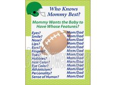 Football Baby Shower Game Sports Theme Baby by BabyShowerBakery, $5.00