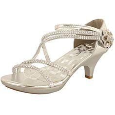 Jjf Shoes Angel 62 Womens Stry Rhinestone Dress Sandal Low Heel For