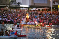 Virgen del Carmen. In Malaga the day of the 'Virgen del Carmen' (July 16), the patron saint of the sea, is celebrated with great fervour at beaches.
