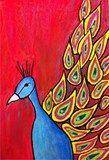 Artsonia Art Exhibit :: 5th Grade Peacocks (Friedman))