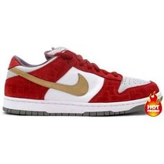 Men Nike Dunk Low SB (Shanghai Edition)(white metallic gold red) Nike 0e00b5f5d