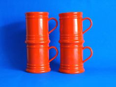 Emsa West German Orange Drinking Cups  Funky Vintage by FunkyKoala
