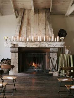 Love the candles on the mantle and the floors!!