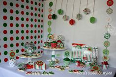 Photo 1 of 19: Christmas Photo Shoot / Christmas/Holiday Christmas Sweet Treats Table | Catch My Party