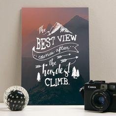 Placa decorativa - Best View