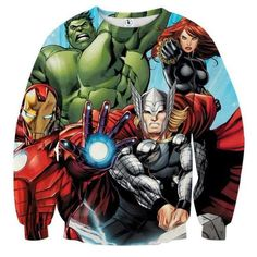 Avengers Comics 3D Printed Avengers Sweatshirt