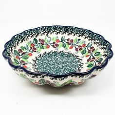 Polish Pottery Small Scalloped Bowl 1415 ** Want additional info? Click on the affiliate link Amazon.com on image.