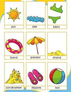 Woordkaarten zomer