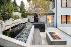 Retaining wall ideas slope retaining wall ideas slope contemporary landscape by decorative landscaping retaining wall ideas . Sloped Backyard Landscaping, Backyard Retaining Walls, Sloped Yard, Cement Patio, Backyard Patio Designs, Landscaping Ideas, Retaining Wall Gardens, Sloping Backyard, Retaining Wall Steps