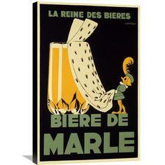 Global Gallery 'Biere de Marle' by Edouard Courchinoux Vintage Advertisement on Wrapped Canvas Size: