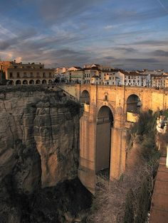 Ronda, Spain.  We visited here on our honeymoon, beautiful and amazing place to wander.  Brings back great memories.