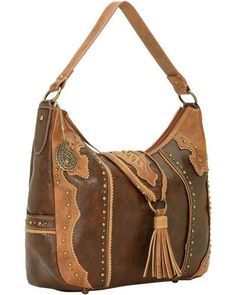 American West offers an affordable, yet classically chic, #handbag line for cowgirls http://www.faearch.com/product/american-west/american-west-bandana-topeka-zip-top-hobo-bag,295428951.html