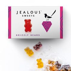 Grizzly Bear - Front Confectionery, Plant Based, Presents, Gluten Free, Xmas, Tasty, Sweets, Gifts, Glutenfree