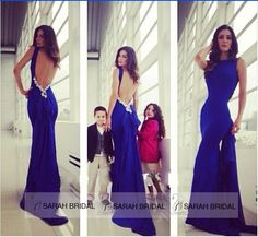 Excellent Evening Dresses High Neckline Low Bare Back Bodycon Ball Party Gowns #Handmade #Sheath #Formal