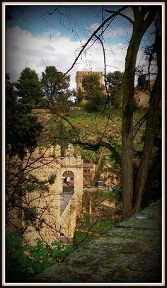 Castillo de San Servando y Puente de Alcántara. Toledo