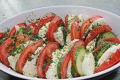 Tomaten - Mozarella - Gurken - Salat