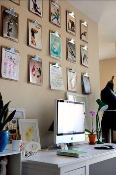 Enfeite sua parede do home office com pranchetas e molduras icônicas :D