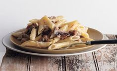 Sausage and Mushroom Penne Gratin / photo by Romulo Yanes
