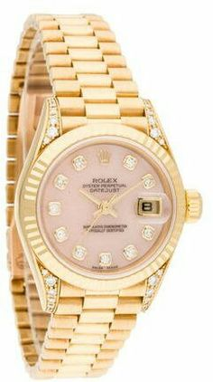 c1422a5c1a2 yellow gold Rolex Datejust watch featuring an automatic movement with  cyclops date display