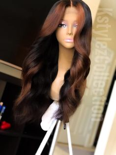 Goddess Hairstyles, Weave Hairstyles, Pretty Hairstyles, Cute Hair Colors, Pretty Hair Color, Hair Inspiration, Hair Inspo, Natural Hair Styles, Long Hair Styles